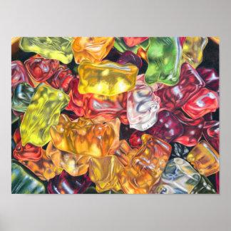 Gummibärchen - Farbstiftzeichnung Poster