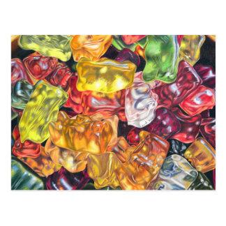 Gummibärchen - Farbstiftzeichnung Postkarte