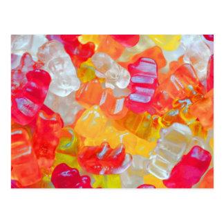 Gummibärchen Postkarte