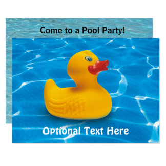 Gummiducky in der Pool-Party Einladung