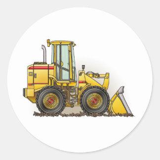 Gummireifen-Lader-Baugeräte Runde Sticker