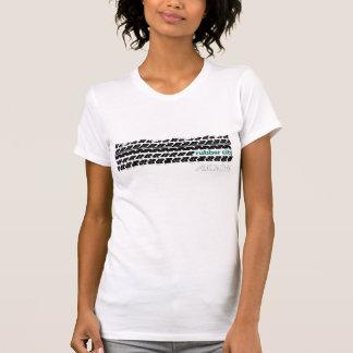 Gummistadt-Reifen-Schritt T-Shirt