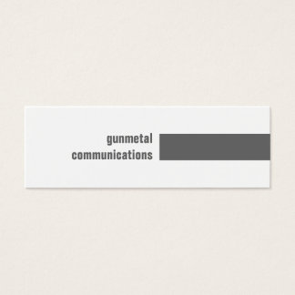 Gunmetal einfach mini visitenkarte