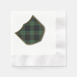Gunn-Clan karierter schottischer Tartan Serviette