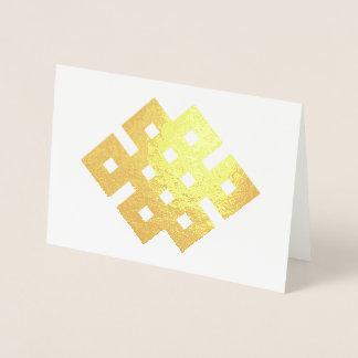 Günstiger Knoten-endloses Knoten-Buddhist-Symbol Folienkarte