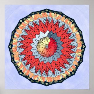 Günstiger Mandala-Wand-Kunst-Druck Poster