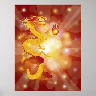 Günstiges chinesisches Drache-Plakat Poster