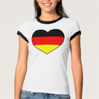 Günstiges Herz-Shirt Deutschland Fussball WM 2010 T-Shirt