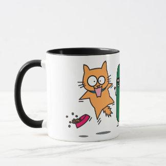 Gurke, die Katzen - Katze gegen Gurken-Schrecken Tasse