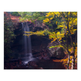Gurke fällt, Ohiopyle Staatspark, Pennsylvania Poster