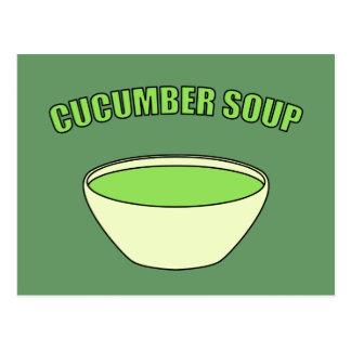 Gurken-Suppe Postkarte