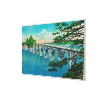 Gurren-Bucht-Brücke in der Nordbiegung, Oregon Gespannter Galeriedruck