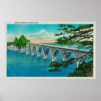 Gurren-Bucht-Brücke in der Nordbiegung, Oregon Poster