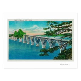 Gurren-Bucht-Brücke in der Nordbiegung, Oregon Postkarte