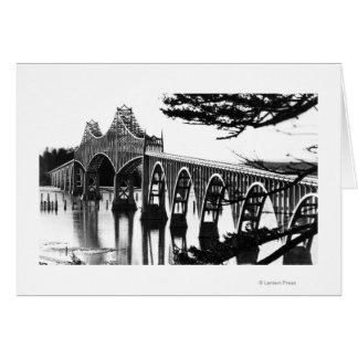 Gurren-Bucht-Brücke PhotographNorth Biegung ODER Grußkarte