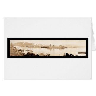 Gurren-Bucht-Dampfer-Foto 1915 Grußkarte
