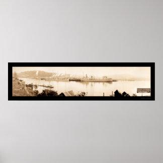 Gurren-Bucht-Dampfer-Foto 1915 Poster