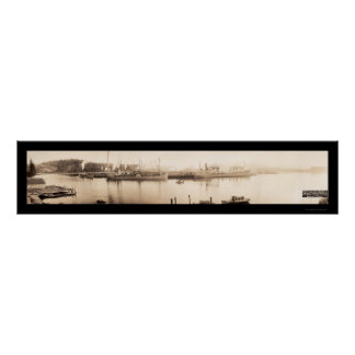 Gurren-Bucht ODER Schiffs-Foto 1915 Poster