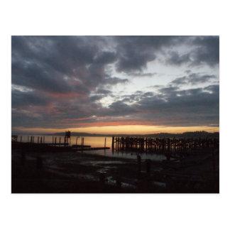 Gurren-Bucht-Sonnenuntergang Postkarte