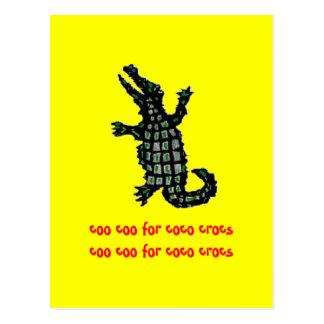 Gurrengurren für Cocos crocs Postkarte