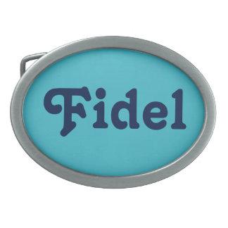 Gürtelschnalle Fidel