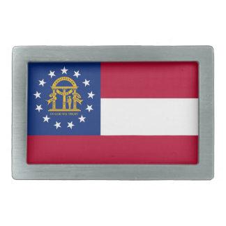 Gürtelschnalle mit Flagge von Georgia-Staat