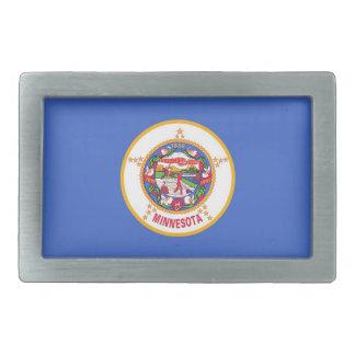 Gürtelschnalle mit Flagge von Minnesota-Staat