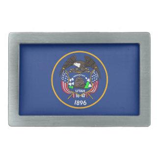 Gürtelschnalle mit Flagge von Utah-Staat