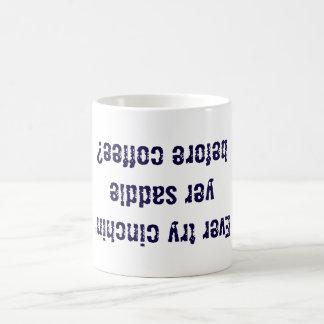 Gürten Sie Ihre Sattel-Kaffee-Tasse Kaffeetasse