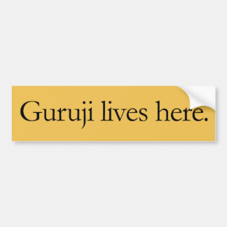 Guruji lebt hier großer Aufkleber Autoaufkleber