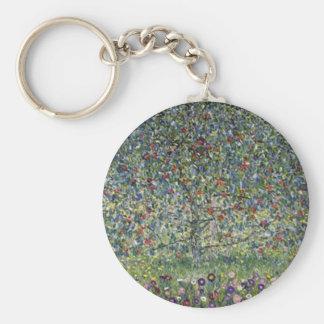 Gustav Klimt - Apfelbaum-Malerei Schlüsselanhänger