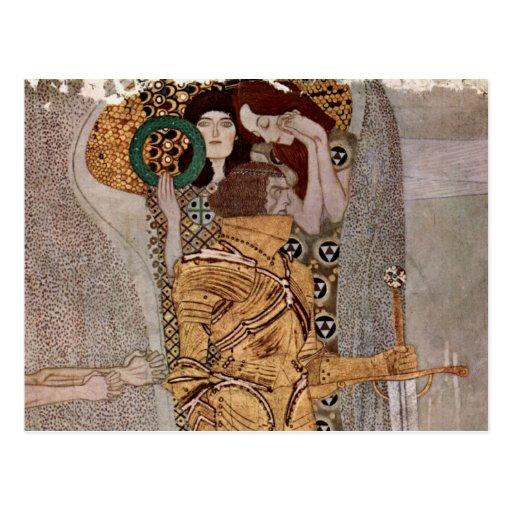 Gustav Klimt ~ Beethovenfries Postkarte