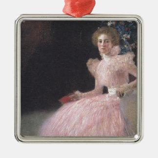 Gustav Klimt - Bildnis Sonja Knips Porträt Silbernes Ornament
