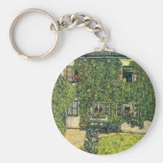 Gustav Klimt - das Haus von Guardaboschi Schlüsselanhänger