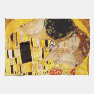 Gustav Klimt das Kuss-Meisterwerk Geschirrtuch