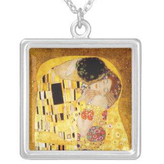 Gustav Klimt das Kuss-Meisterwerk Versilberte Kette