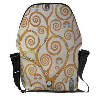Gustav Klimt der Baum der Leben-Kunst Nouveau Kurier Tasche
