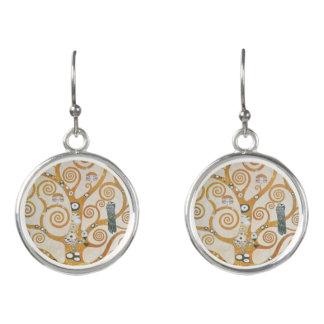 Gustav Klimt der Baum der Leben-Kunst Nouveau Ohrringe