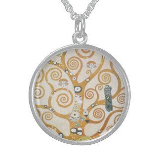Gustav Klimt der Baum der Leben-Kunst Nouveau Sterling Silberkette