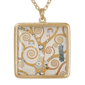 Gustav Klimt der Baum der Leben-Kunst Nouveau Vergoldete Kette