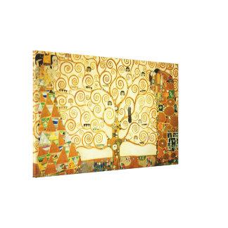Gustav Klimt der Baum der Leben-Vintagen Kunst Leinwanddruck