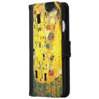 Gustav Klimt - der Kuss iPhone 6 Geldbörsen-Kasten Geldbeutel Hülle Für Das iPhone 6/6s