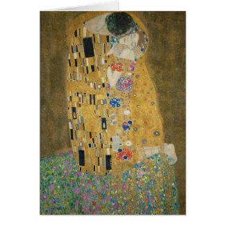 Gustav Klimt - der Kuss Karte