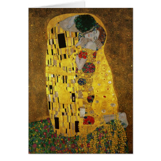Gustav Klimt der Kuss Karte