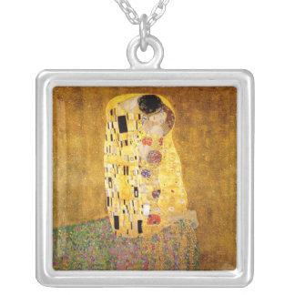 Gustav Klimt der Kuss-Klassiker Versilberte Kette