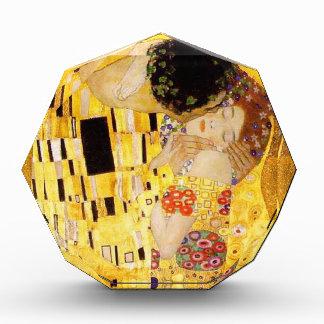 Gustav Klimt der Kuss Nouveau Acryl Auszeichnung