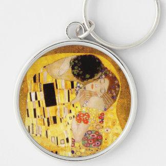 Gustav Klimt der Kuss Nouveau Schlüsselanhänger