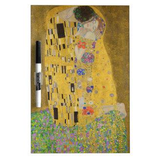 "Gustav Klimt ""der Kuss "" Trockenlöschtafel"