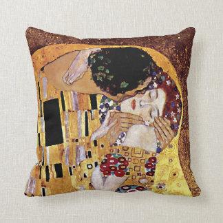 Gustav Klimt - der Kuss - Vintage Kunst Nouveau Kissen