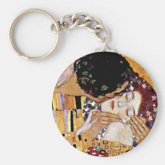 Gustav Klimt - der Kuss - Vintage Kunst Nouveau Schlüsselanhänger